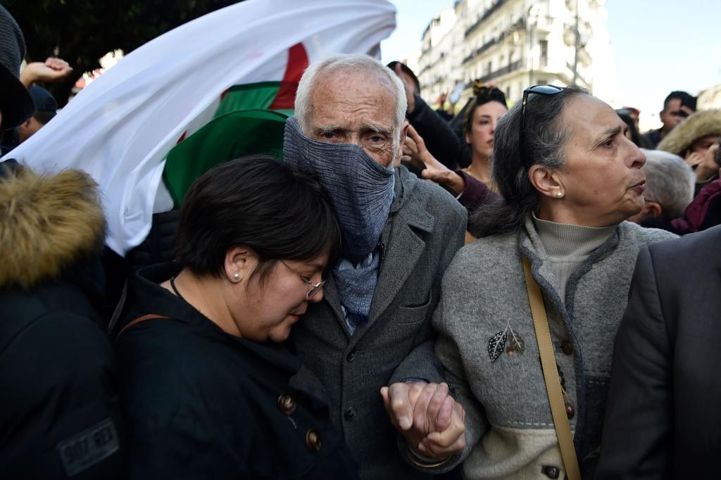 من التظاهرة التي شهدتها العاصمة الجزائرية أمس