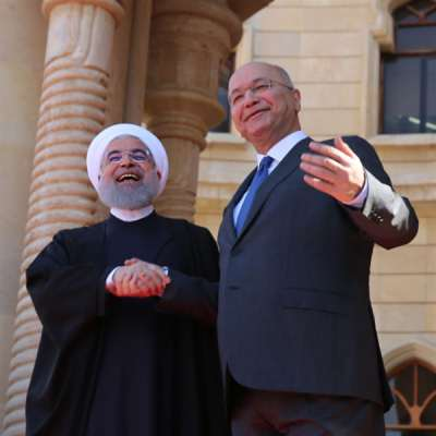 روحاني في بغداد: رسائل في اتجاهات عدة