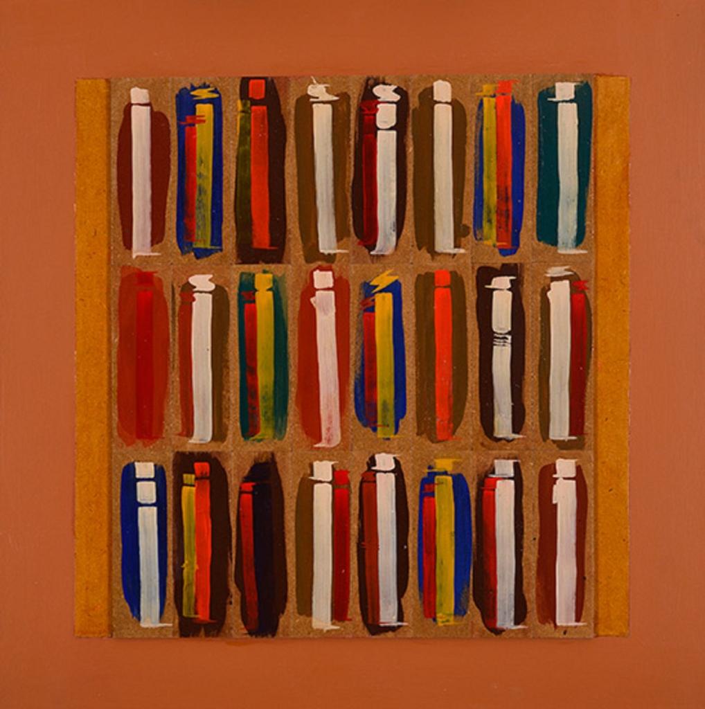 سمير الصائغ ـ «ألف» (أكريليك على لوح ــــ 60 × 60 سنتم ــ 2015)