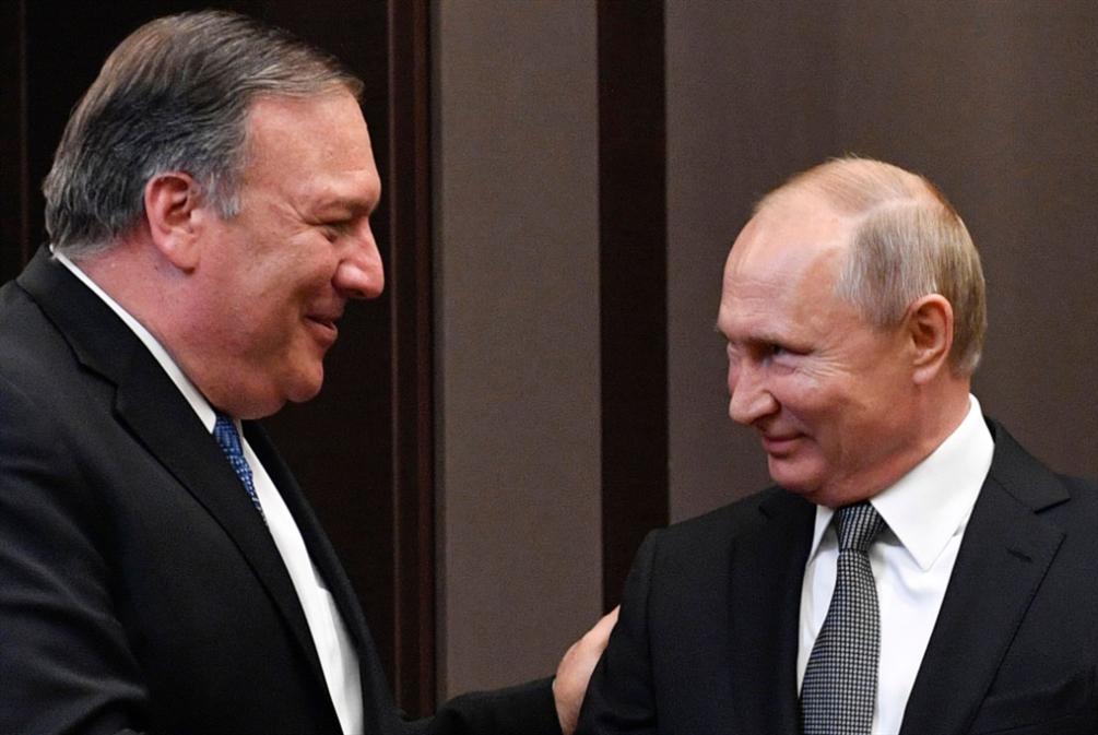 بومبيو في زيارته الأولى لموسكو: آن وقت «تحسين العلاقات»