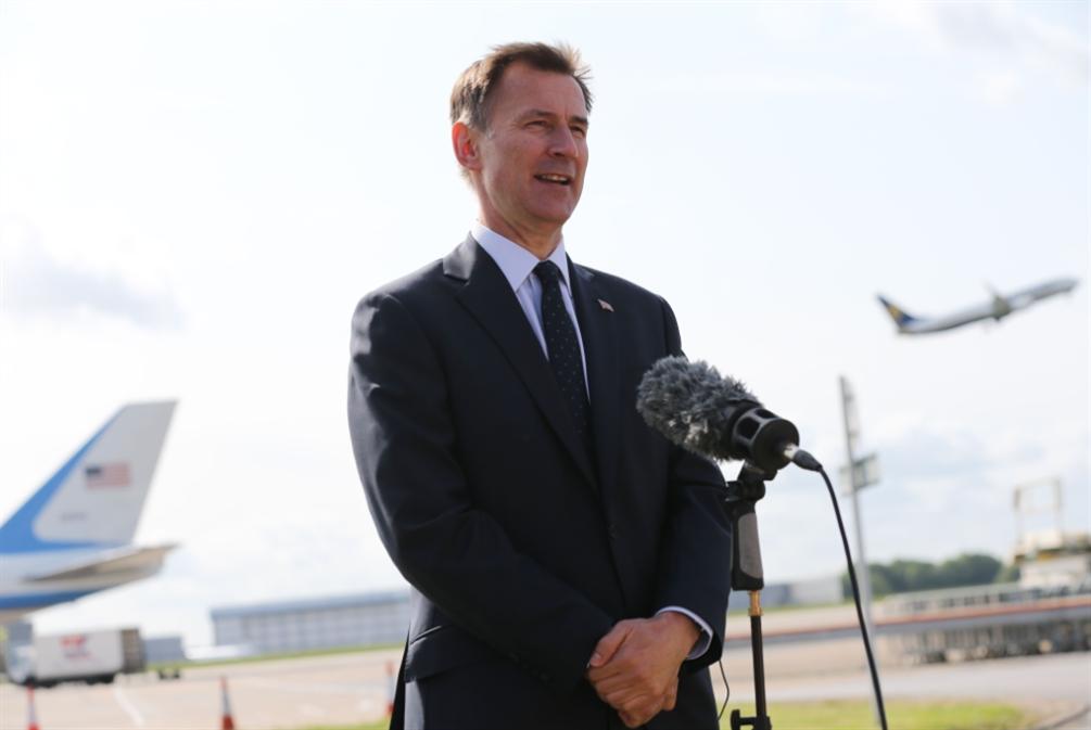 هانت يأمل إعادة التفاوض مع الأوروبيين بشأن «بريكست»