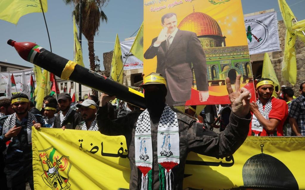 مسيرة إحياء اليوم في العاصمة السورية دمشق
