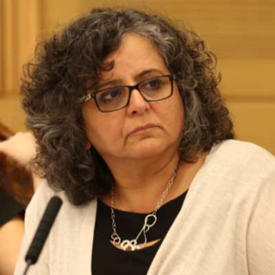 النائبة الفلسطينية، عايدة توما سليمان