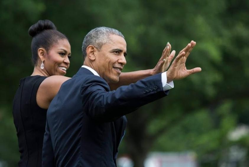 باراك وميشيل أوباما: شراكة مع «سبوتيفاي»