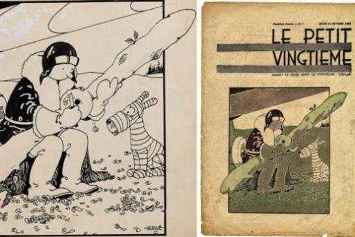 أوّل غلاف لمغامرات «تان تان»... أكثر من مليون دولار