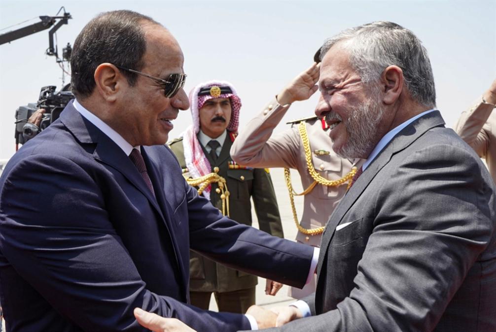 عبد الله الثاني يستبق جولة كوشنر بلقاء السيسي