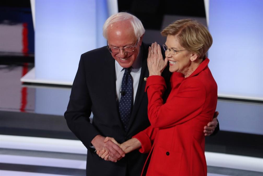 مناظرة ديموقراطية جديدة: وارن وساندرز في مرمى «المعتدلين»
