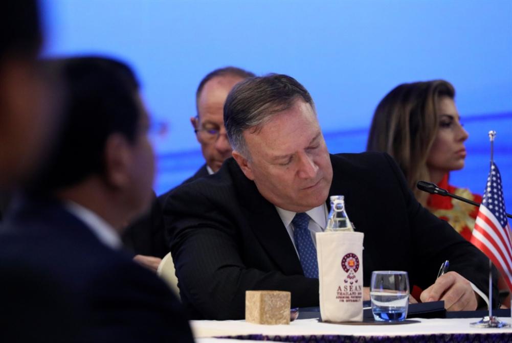 بومبيو في «آسيان»: مواجهة الصين أولوية