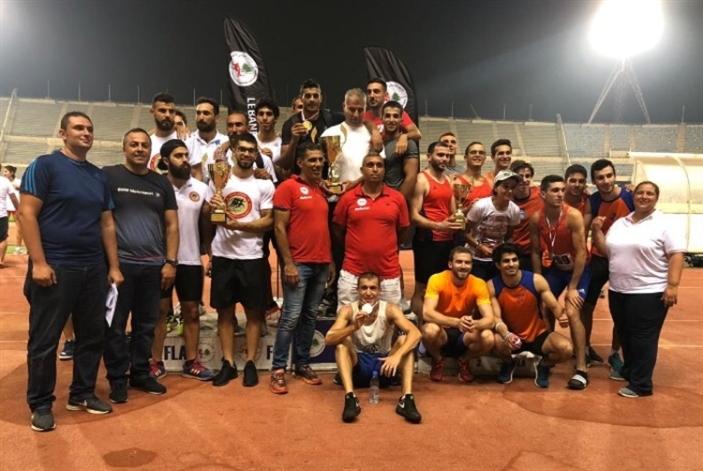 الجيش وإنتر ليبانون بطلا كأس الاتحاد في ألعاب القوى