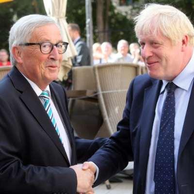 بريطانيا   يونكر بعد لقائه جونسون:  لم يُقدّم مقترحاً مرضياً بشأن اتفاق «بريكست» جديد
