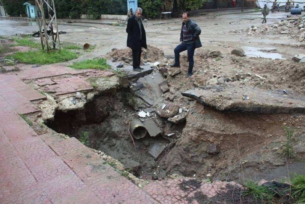 الانهيارات الأرضية في رأس العين: الخطر قادم مع الشتاء!