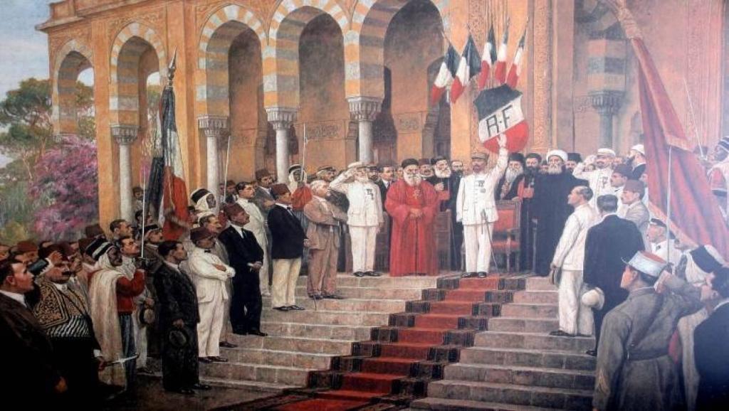 لوحة «إعلان لبنان الكبير» في 1 أيلول 1920، لفيليب موراني