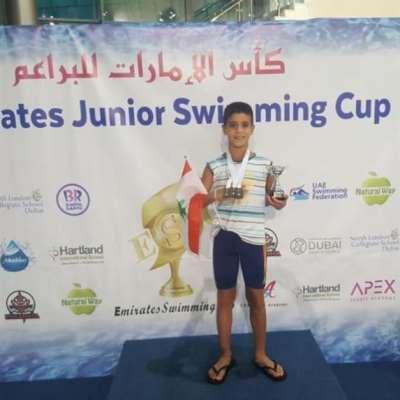 ثلاث فضّيات للشرتوني في بطولة دبي للسباحة