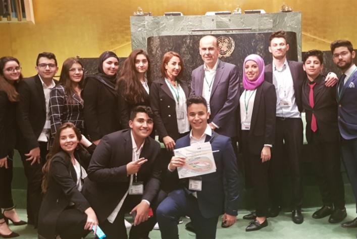 طلاب مدارس القديس جاورجيوس  يحصدون جوائز عالميّة في الأمم المتحدة
