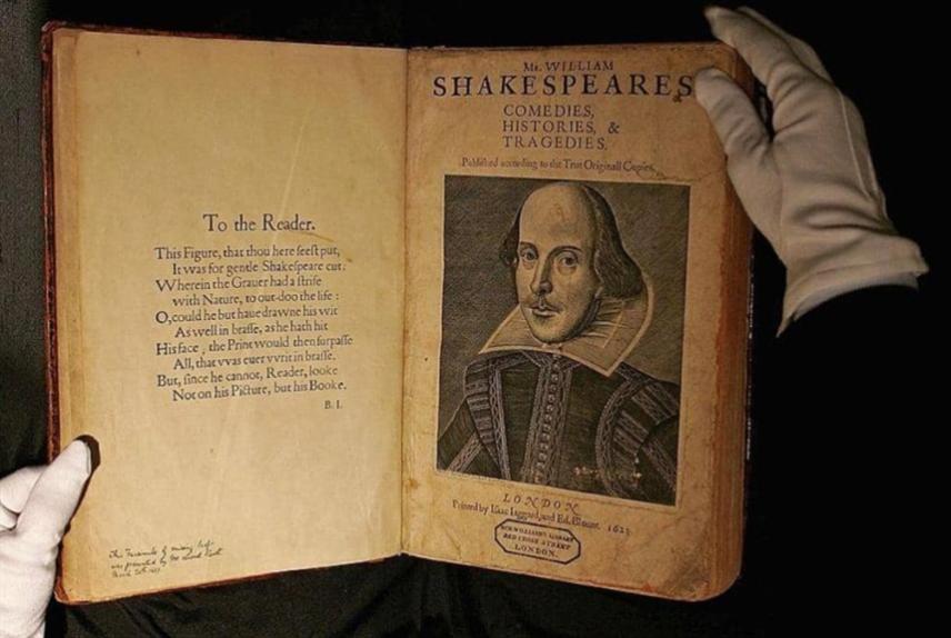 «كريستيز»: «المطوية الأولى» لشكسبير إلى المزاد