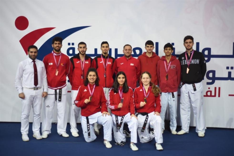 8 ميداليات للبنان في التايكواندو