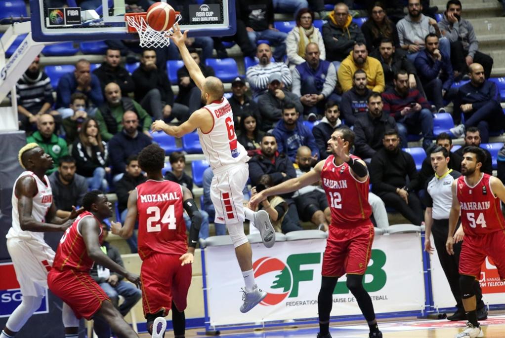 لبنان يفوز على البحرين بفارق 43 نقطة