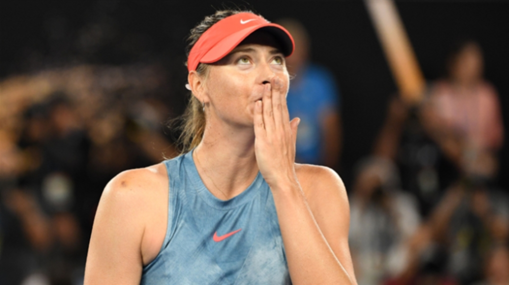 صورة شارابوفا تودّع كرة المضرب