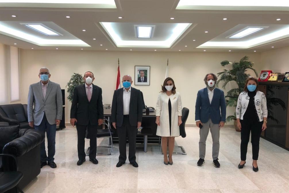 وفد اللجنة الأولمبية اللبنانية يزور وزيرة الشباب والرياضة