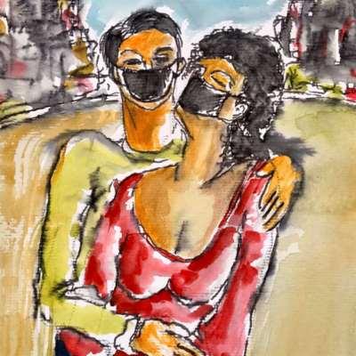 باسل المقوسي يرسم... ليهزم العزلة!