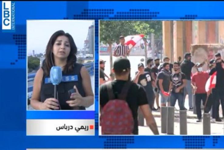 تظاهرات 6/6: خنادق متنقّلة وشظايا الرصاص تصيب الإعلام اللبناني