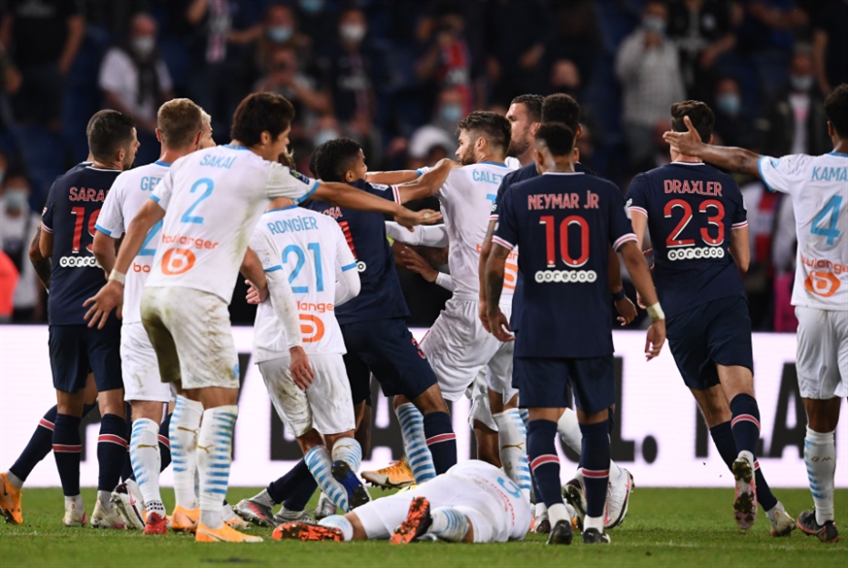 كلاسيكو فرنسا: 14 بطاقة صفراء و5 حمراء في مباراة واحدة