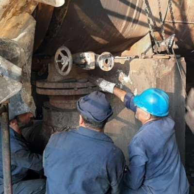 استمرار أعمال صيانة مصفاة بانياس
