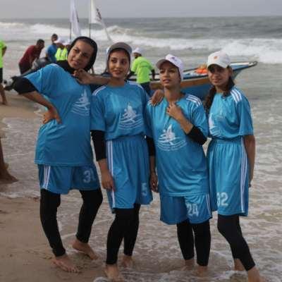 بحر غزّة يحتضن أوّل مسابقة تجذيف