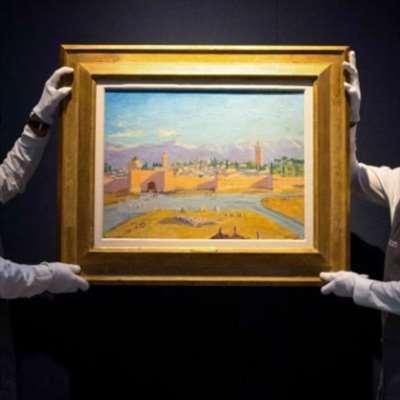 أنجلينا جولي باعت لوحة تشرشل عن مراكش