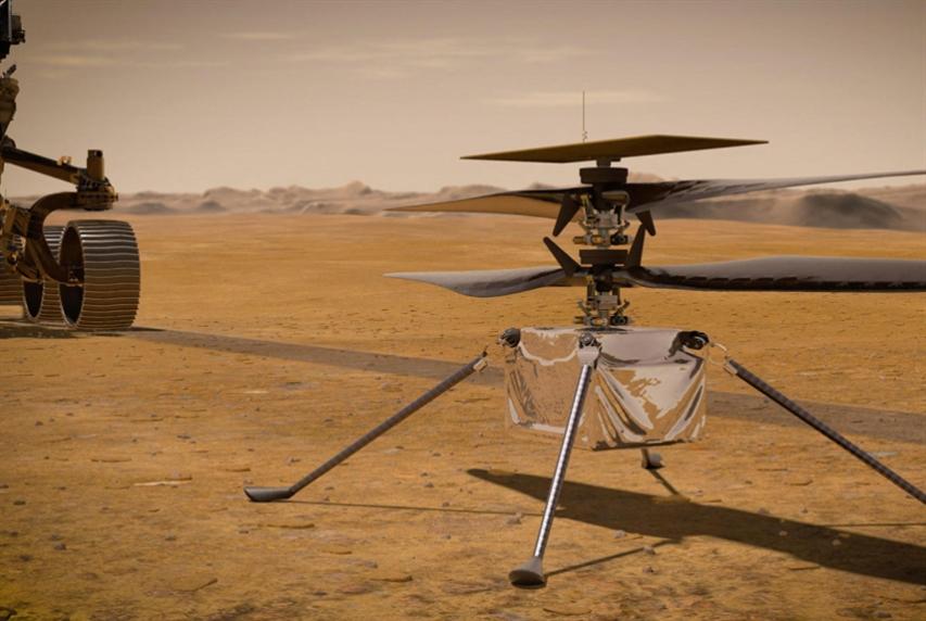 أول محاولة طيران لمروحيّة في أجواء المريخ