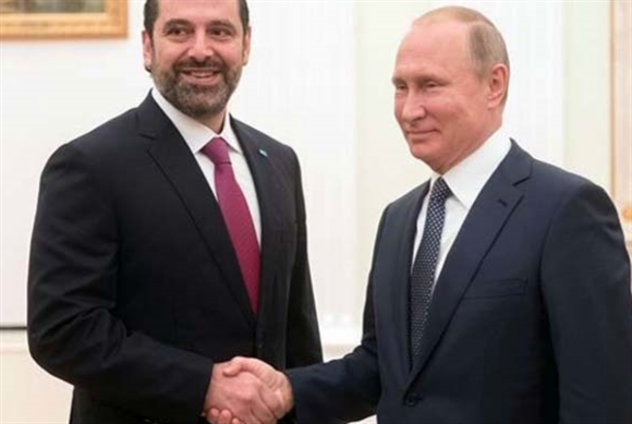 بوتين يهاتف الحريري: روسيا تدعم سيادة لبنان وسلامة أراضيه