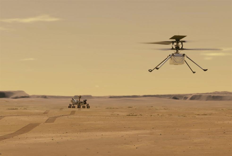المروحية «إنجينيويتي» تحلّق بنجاح فوق المريخ