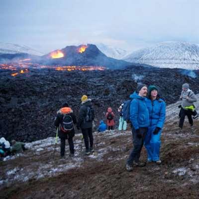اتّساع رقعة ثوران بركان آيسلندا