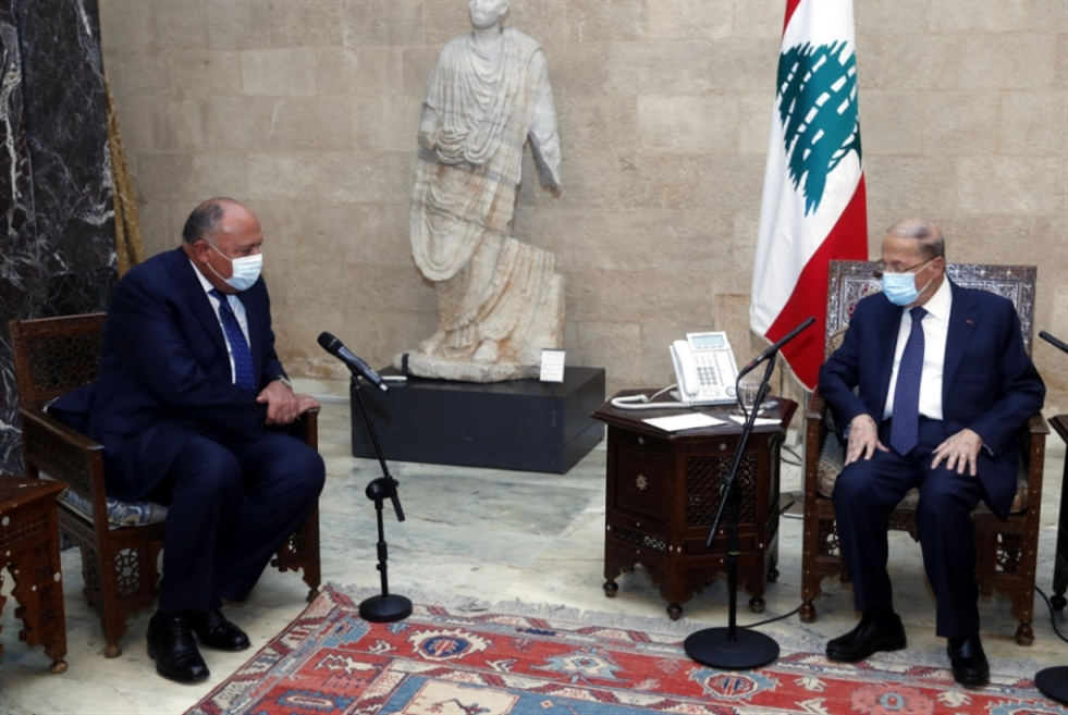 شكري في بيروت: مصر مستمرّة ببذل الجهود لحلّ الأزمة