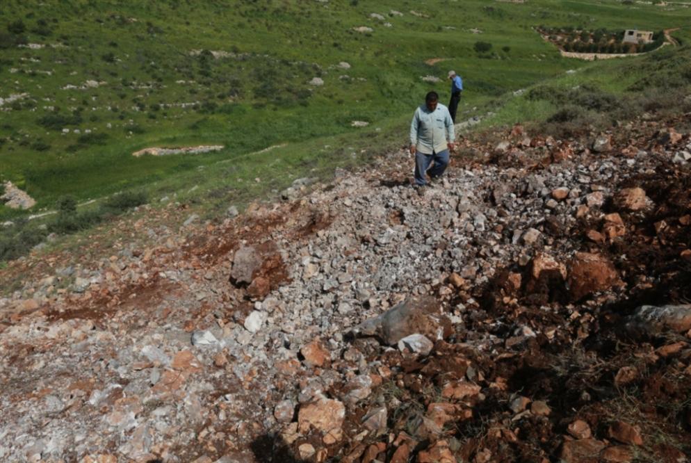 سقوط صاروخ بين حولا وميس الجبل