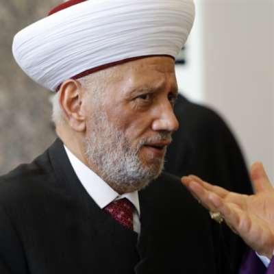 دريان يتصل بمفتي القدس: لبنان وشعبه مع فلسطين