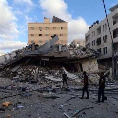 الاحتلال الغاشم يقصف مكاتب مجموعة طلال أبوغزاله العالمية وبدون انذار في غزة