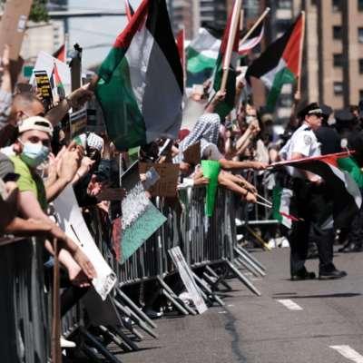 تحركات غاضبة في عدة ولايات أميركية ضد الاحتلال الاسرائيلي