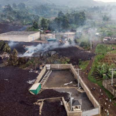 مدينة غوما تنجو من حمم بركان «نيراغونغو» في شرق الكونغو الديموقراطية