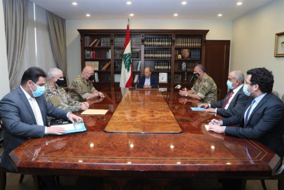 عون يجتمع بالوفد المفاوض: لتصحيح الحدود وفقاً للقوانين الدوليّة