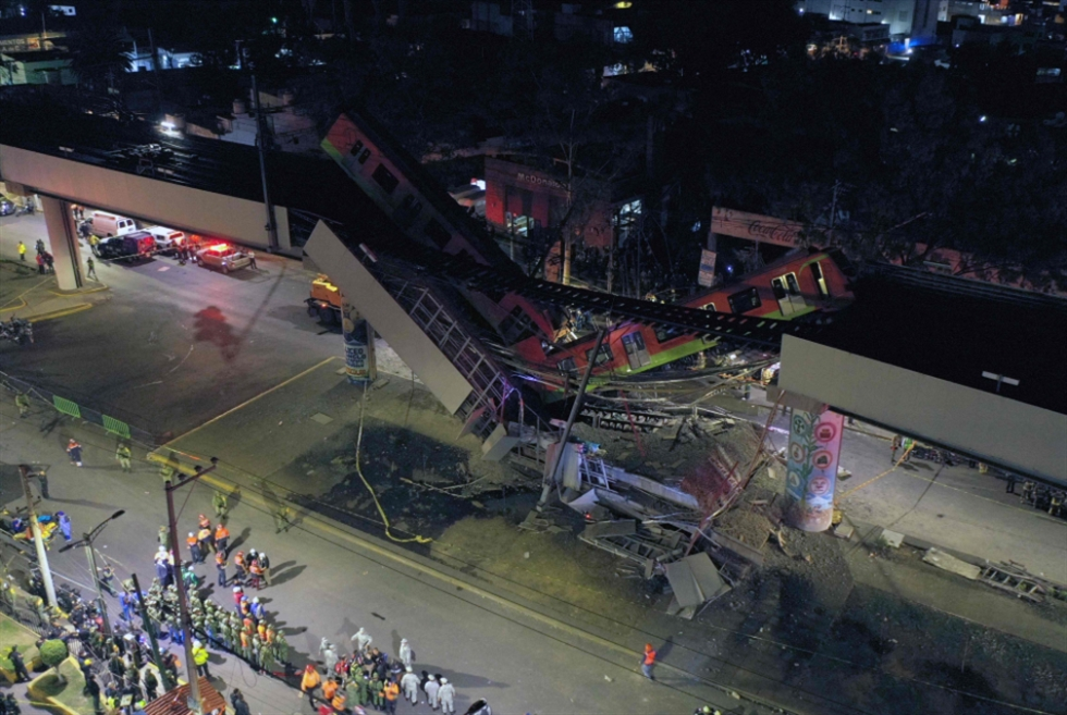 المكسيك: انهيار جسر مترو يُسفر عن مقتل 23 شخصاً