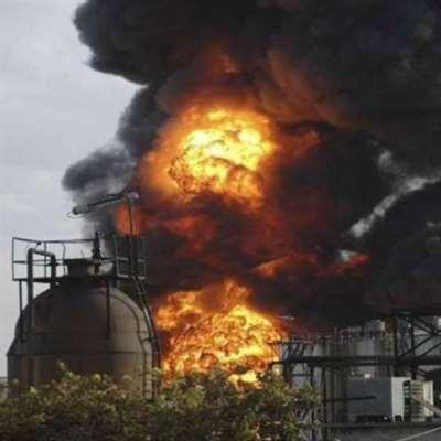 حريق بمصفاة نفطيّة في حمص