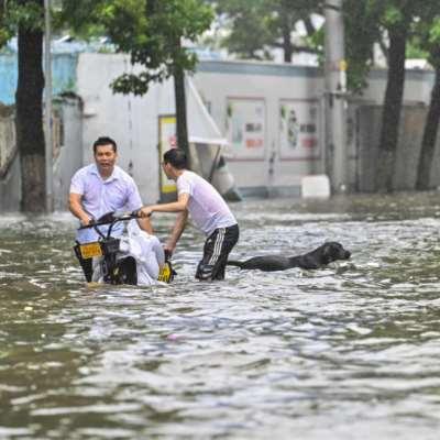 إغلاق جديد في الصين... بسبب إعصار وفيضانات
