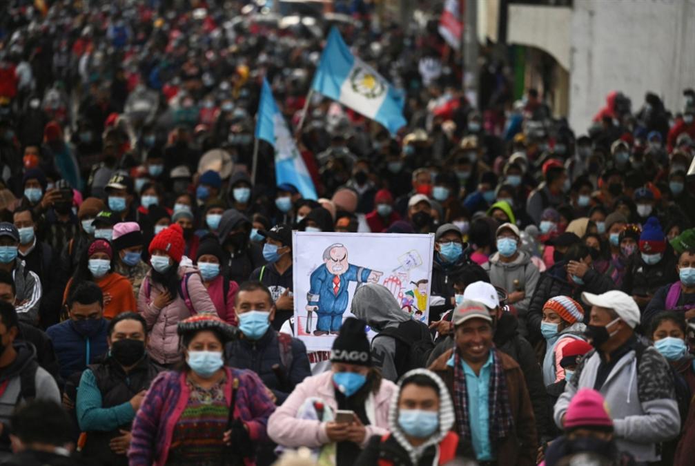مظاهرات في غواتيمالا تطالب الرئيس بالتنحي