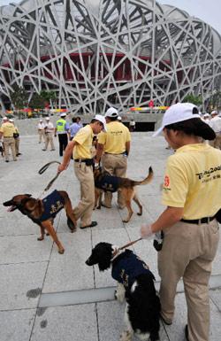 الأمن الصيني مستنفر لمنع تعكير الأجواء الأولمبية (تي انغ كون - أ ف ب)