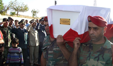 تشييع الشهيد الجندي عباس ابراهيم في شمسطار(رامح حمية)