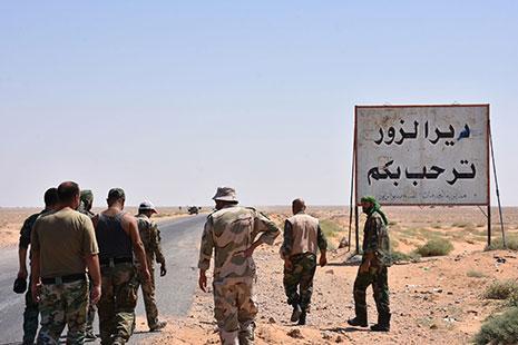 إنهاء التنظيم في معقله الأخير في سوريا بات أمراً قريباً (أ ف ب)