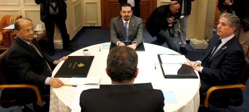 اللقاء الرباعي بعد ظهر أمس في مجلس النواب (مروان طحطح)