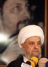 قبلان يلقي كلمته في المجلس الشيعي (هيثم الموسوي)