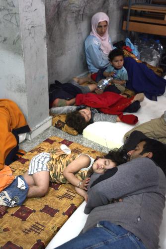 نازحون في مخيم البداوي (وائل اللادقي)